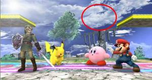 """This is the only cloud I want to see in Super Smash Bros."""