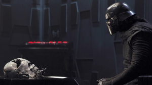 """""""Kylo Ren worships Darth Vader, but wishes to be """"stronger"""" than Vader by not giving into the Light Side of the Force, like Vader ultimately did. That's interesting!"""""""
